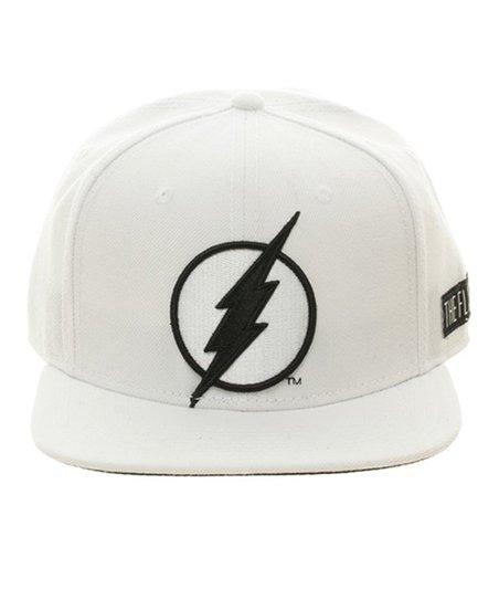 ec7f1db35bb DC Comics Black   White The Flash Wool Snapback Hat