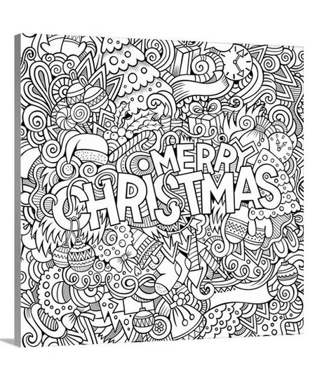 Canvas On Demand Merry Christmas Coloring Canvas | zulily
