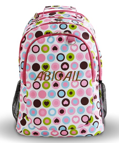 love this product Mod Dot Playful Print Personalized Rolling Backpack c2597040808b4