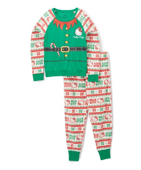 1df6f1cfdfb Age Group Ltd. Ivory Hello Kitty Fair Isle Fleece Pajama Set - Women ...