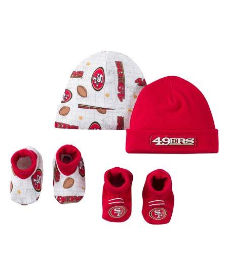 b309daed9 Gerber Childrenswear San Francisco 49ers Beanie & Booties Set - Newborn