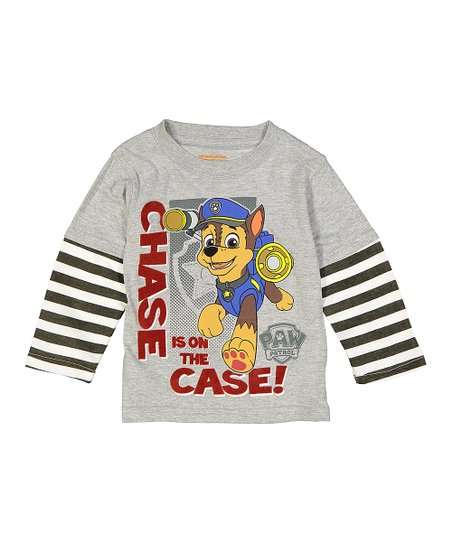 e592757a love this product PAW Patrol Gray 'Chase is on the Case' Tee - Toddler