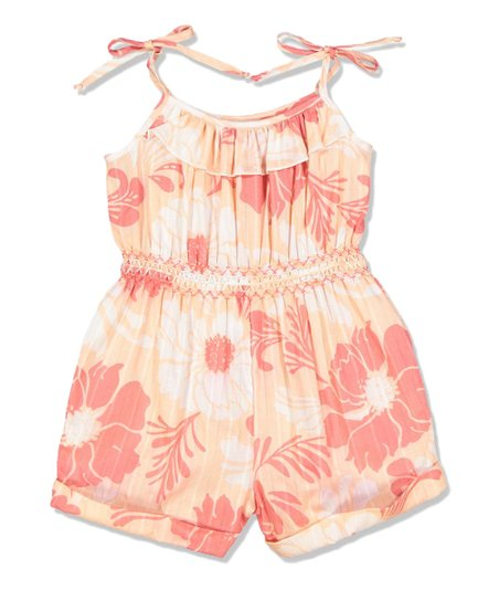 9a8c82b519c Petit Confection Red   White Floral Romper - Toddler   Girls