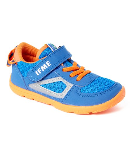 Blue & Orange Ray Sneaker - Boys