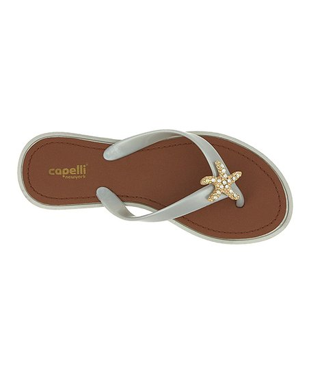 d87440042bcb Capelli New York Silver Starfish Jelly Flip-Flop