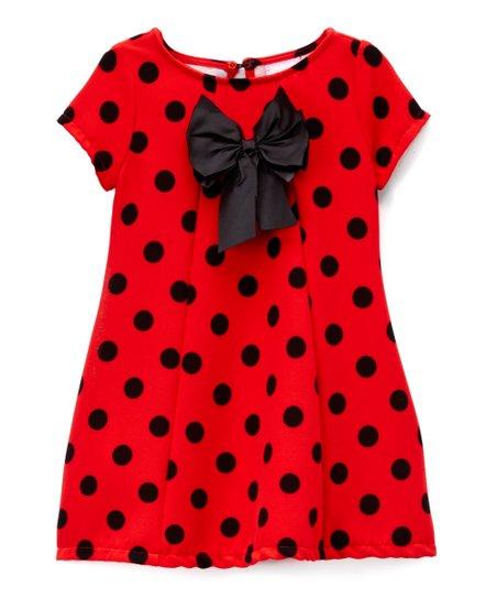 cf0b57e10e0 love this product Red   Black Polka Dot Dress - Toddler   Girls