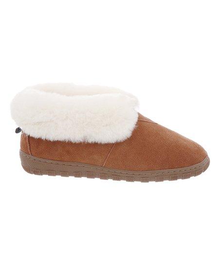 01e4eb566 Cloud Nine Sheepskin Chestnut Sheepskin Bootie - Women | Zulily