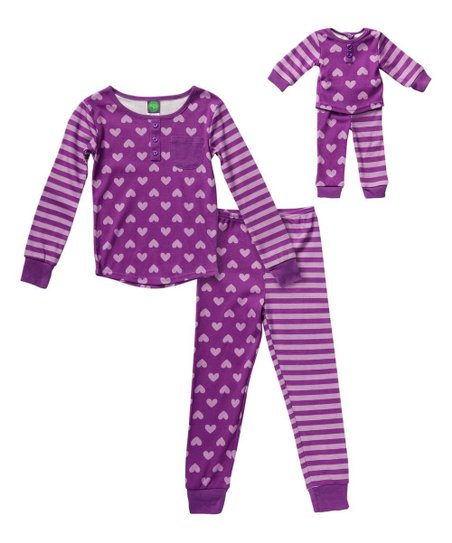ed3f352e92 love this product Purple Heart   Stripe Pajama Set   Doll Outfit - Toddler    Girls