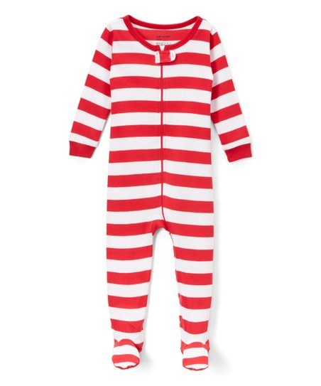 d7638632c love this product Red & White Footie Pajamas - Infant, Toddler & Kids