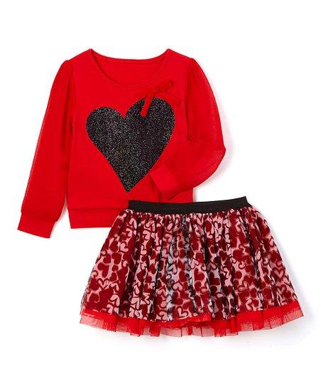 Tango Red Heart Top & Tutu Set - Toddler & Girls