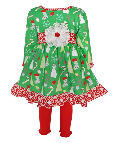 f1ffbe9ef11 love this product Red   Green Christmas Tunic   Leggings - Infant