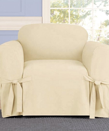 Phenomenal Linen Store Beige Mircosuede Chair Slip Cover Zulily Gmtry Best Dining Table And Chair Ideas Images Gmtryco