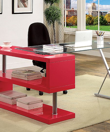 Love This Product Rose Pink Gl Top S Panel Desk