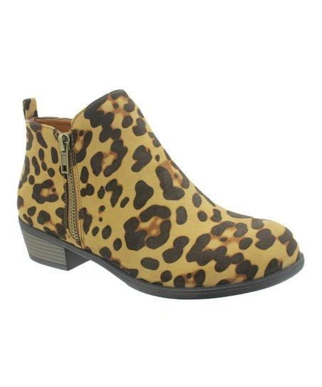 Pierre Dumas Leopard Zoey Ankle Boot