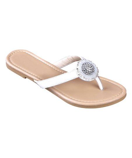 a032a72feb4d love this product White Rhinestone Medallion Flip-Flop - Women