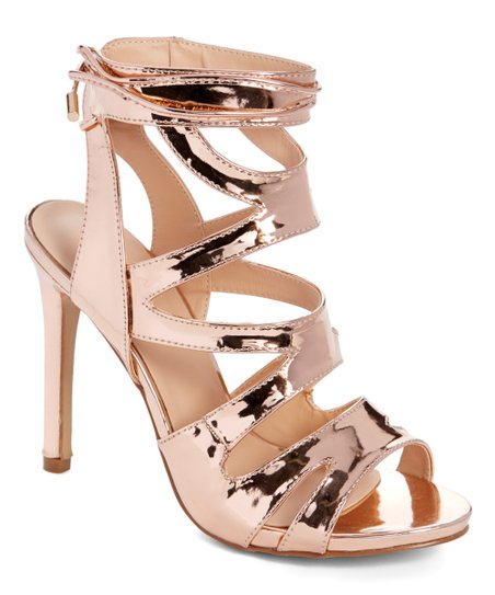 2aa49dab98d83 love this product Rose Gold Metallic Strappy Sandal