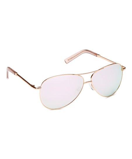 a5291ea62e love this product Rose Gold Polarized Base 6 Aviator Sunglasses