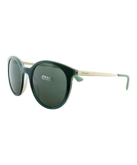 0505bf300813 love this product Emerald Green   White Thin-Frame Cat-Eye Sunglasses