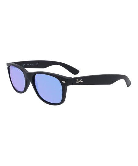 db4fd12d7 love this product Rubber Black & Black Mirror Blue New Wayfarer Sunglasses  - Unisex