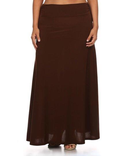 Black Teal Fl Ruffle Maxi Skirt Plus