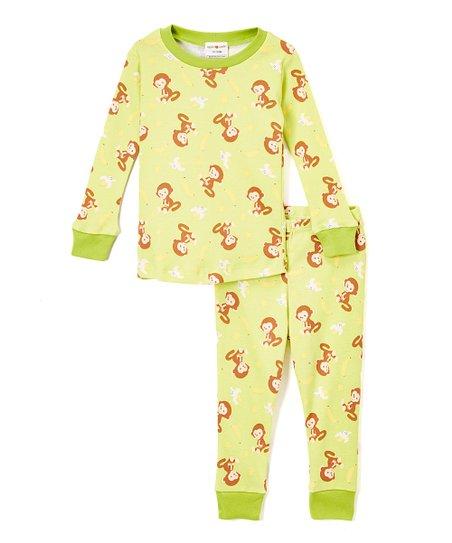 d5fbeb45 Apple Park Lime Monkey Organic Cotton Pajama Set - Infant & Kids ...