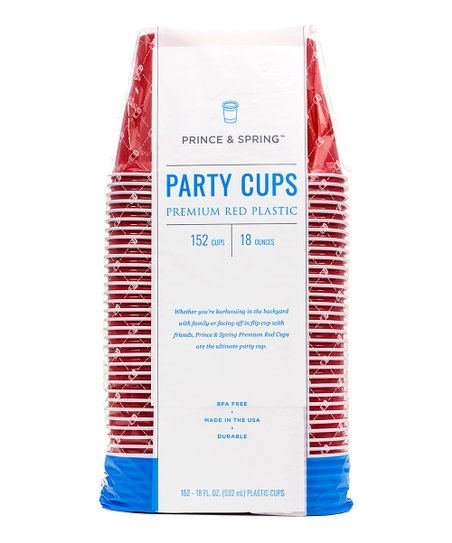 prince spring 152 ct red party cup pack zulily