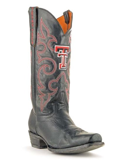7f361e15032 Gameday Boots Texas Tech Red Raiders Black Embroidered Leather Cowboy Boot-  Men - Men