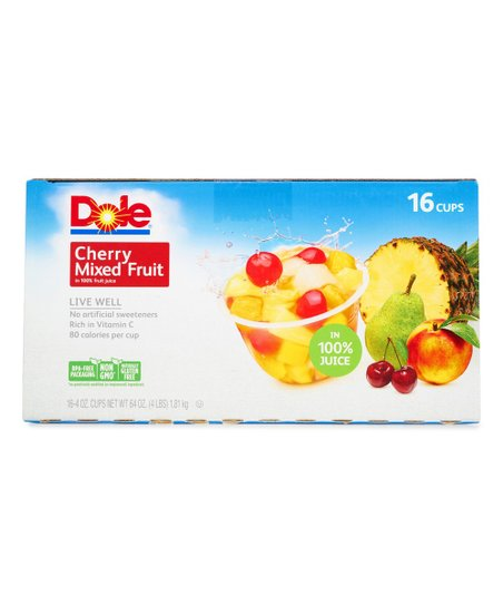 a174e18e3aca62 Dole® 16-Ct. Cherry Mixed Fruit Cups Set   zulily