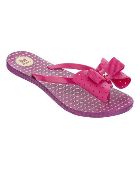 2f4c58de047e love this product Burgundy Fresh Bow-Accent Flip-Flop - Women