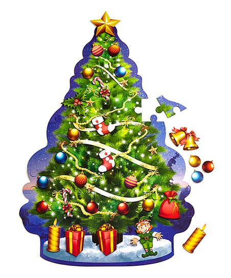 53-Piece Christmas Tree Giant Floor Puzzle & Ornament Kit - 53-Piece Christmas Tree Giant Floor Puzzle & Ornament Kit Zulily
