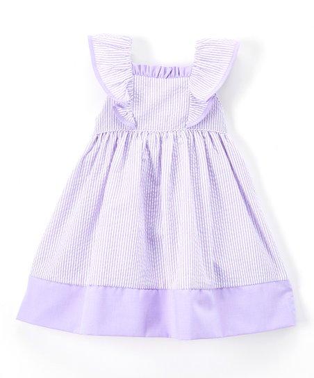 Lavender Seersucker Dress