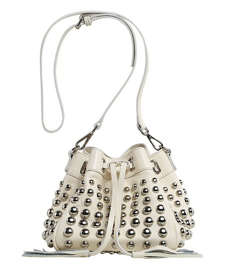 c0a0a8b3ffdf love this product White Studded Jolyn Leather Mini Bucket Bag