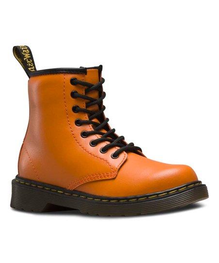 later vast selection wholesale Dr. Martens Pumpkin Orange Delaney Leather Combat Boot ...