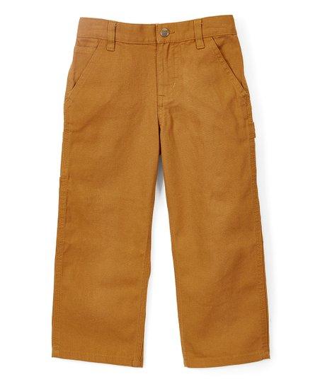 01c577ce1ce1 Carhartt Brown Original Fit Canvas Dungaree Pants - Boys