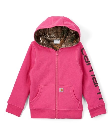 9b2b8a100e9 love this product Raspberry Reversible Zip-Up Hoodie - Girls
