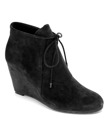 ac12fe8c9c22 Easy Spirit Black Suede Caterina Ankle Boot