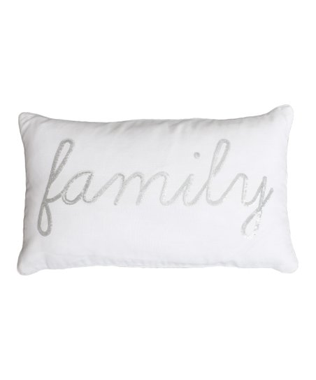 love this product Bright White   Silver Sequin  family  Throw Pillow ccb8780616