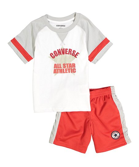 9681a374f love this product Red & Gray 'Converse All Star Athletic' Tee & Shorts -  Toddler