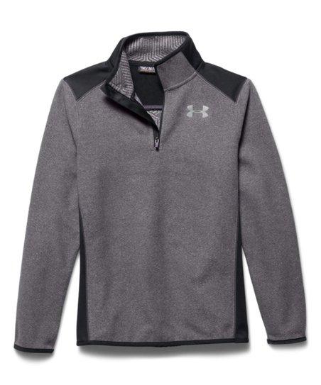 5e6b1e4a33 Under Armour® Graphite ColdGear® Infrared Fleece Quarter-Zip Pullover - Boys