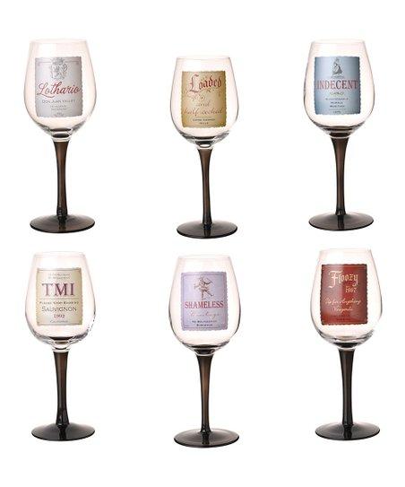 W-White Wine Glass Wei/ßwein Glas Riviera Maison /Ø7 x H22,5 cm