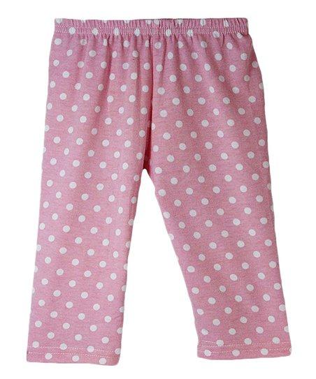 6a1d4c7495b64 love this product Pink & White Polka Dot Capri Leggings - Infant, Toddler &  Girls