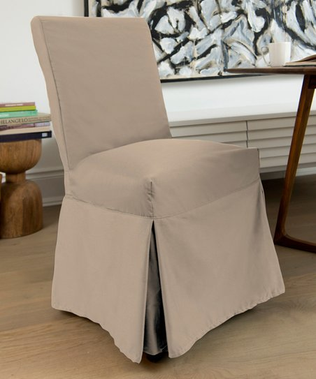 love this product Taupe Muskoka Skirted Dining Chair Slipcover e27d98ad1
