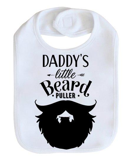6e9d30d03 Love you a Latte Shop White Daddys Little Beard Puller Bib   Zulily
