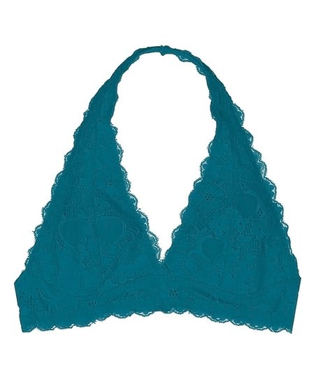 a9c6e633b5 love this product Turquoise Floral Lace Halter Bralette