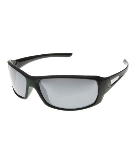 6c329091997 Dockers Black Polarized Wrap Sunglasses