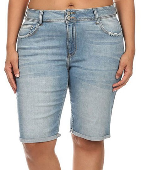 d406aa6194 Cello Jeans Light Denim Bermuda Shorts - Plus | Zulily