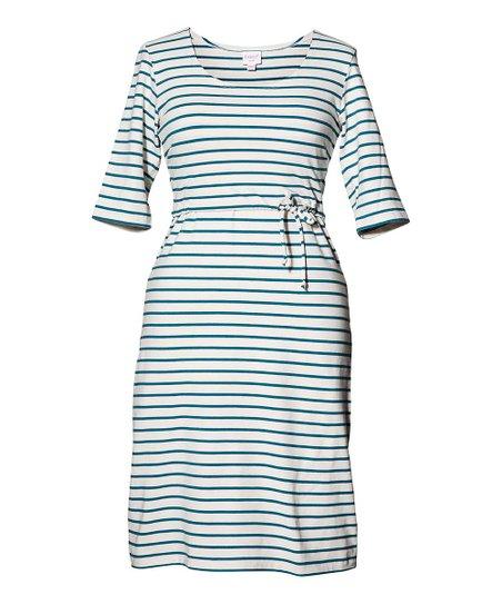 a64381307a8af Boob Designs Green Pool Stripe Organic Molly Maternity & Nursing ...
