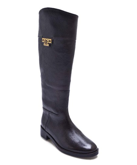 6ac0de370bf Tory Burch Black Joanna Leather Riding Boot