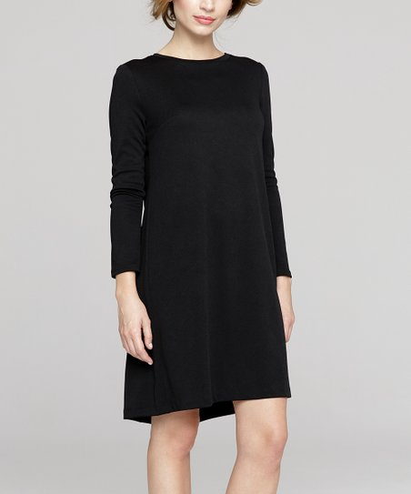 07ff71bdba69 Peperuna Black Shift Dress - Women | Zulily
