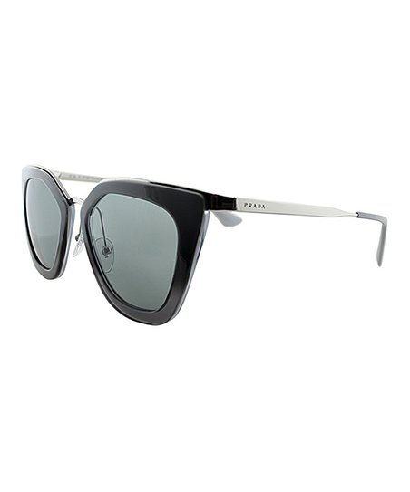 27a541696ca Prada Black Two-Tone Oversize Cat-Eye Sunglasses